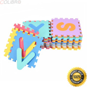 COLIBROX--36 PCS Soft EVA Foam Baby Kids Play Mats Children Alphabet Number Puzzle Jigsaw. best abc puzzle games for your children. alphabet jigsaw puzzle. abc learning for kids . amazon.