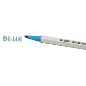 Denshine (TM) Blue Metallic Marker Tip Pens Use in Art & Crafts One Piece Pen