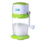 Ice Crusher Grinder Shaver Manual Ice Chipper For Fine Or Coarse Pieces, Strongest Heaviest Duty With Large 1480ml Bucket - 430 Stainless Steel Blade - Essential Kitchen Tool - Bar Accessory - by Zalik