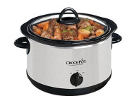 Crock-Pot 3.8l Oval Slow Cooker SCR400-SP, Features Removable Stoneware,high, low and warm settings in Silver