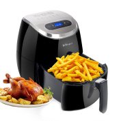WEWespace No Oil Air Fryer Digital LED Touch Screen 3.5l, 1350W - Comes with Recipes CookBook - Easy-to-clean - Dishwasher Safe - Auto Shut off & Timer