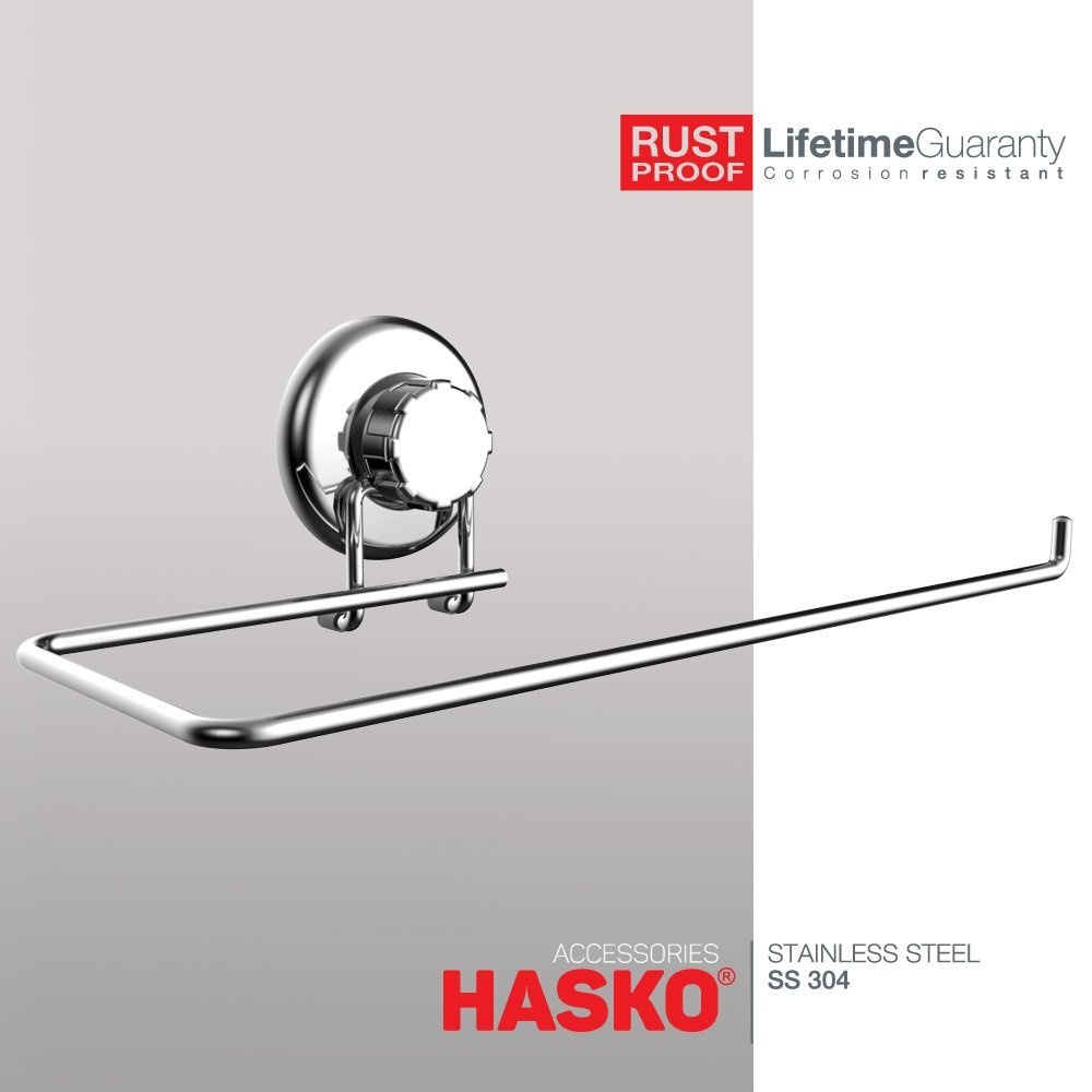 HASKO Accessories - Suction Cup Paper Towel Holder- Chrome Plated ...