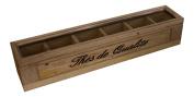 "Wooden Tea Box - Rectangular - French Vintage Design ""The de qualite"""