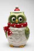 Cosmos Gifts 10901 Christmas Owl Cookie Jar