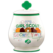 It's Girl Scout Cookie Time Stoneware Jar w/ Silicone Seal For Freshness