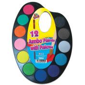 Art Box Jumbo Paints on Palette Watercolour Paint Set