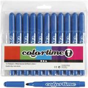 Colortime Marker, 5 mm line, azure, 12pcs