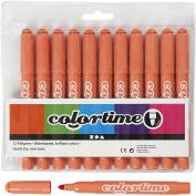 Colortime Marker, 5 mm line, mandarin, 12pcs