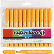 Colortime Marker, 5 mm line, warm yellow, 12pcs