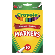 NON-WASHABLE MARKERS, FINE POINT, CLASSIC colours, 10/SET