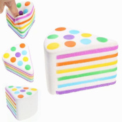 A Thousand Layers Of Rainbow Cake Toy,Mamum Jumbo Rainbow Cake Squeeze Healing Fun Kid Toy Gift Stress Reliever Decor