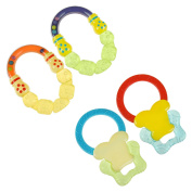 6m+ Water Filled Baby Rattle Teether Bright Coloured Cold Soothing Teething Toy - Designed For Little Hands To Grasp, Hold & Shake