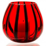 The Merchant of Venice Scented Lantern Muranoglass Laterna Mirtillo-Rosso + 4 scented Tealight Candles