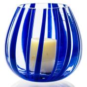 The Merchant of Venice Scented Lantern Muranoglass Laterna Blu-Pesco + 4 scented Tealight Candles