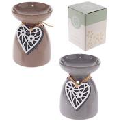 Wooden Heart Ceramic Eden Oil Burner