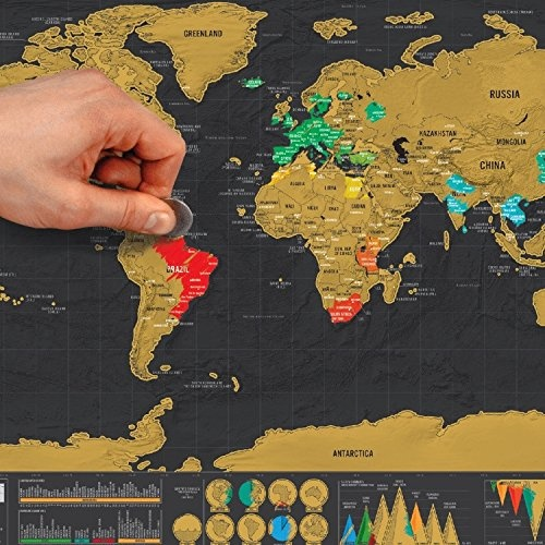 Scratch off map deluxe mini world map poster countries and facts scratch off map deluxe mini world map poster countries and facts travel gift by global walkabout shop online for homeware in new zealand gumiabroncs Images