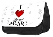 Hiros®I love jake paul music Pencil case..make up case, back to school gift,Gift for child,Travel Wash Bag,Cosmetics Pouch Organiser Toiletry Purse Pencil Case Wallet.Christmas Gift case.