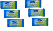 6 X Carex Cussons Refreshing Soft Cleansing Wipes For Hands Face & Body - 10 Sheets