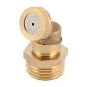 Brass Gardening Irrigation Tool Single Head Spray Nozzle 20mm Male Thread Dia