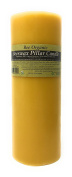 100% Organic Beeswax Pillar Candle, Non-gmo, Raw, Unrefined and Screen Filtered. Unbleached cotton wick.