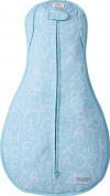 Woombie Convertible Vented Nursery Swaddling Blankets, Blue Alphabet, 6.4-8.6kg
