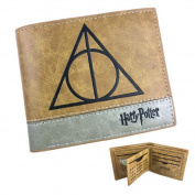 Wallet Harry Potter Deathly Hallows Leather Brown