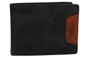 Wallet man ANTONIO BASILE black leather with lateral flap and coin purse VA2035