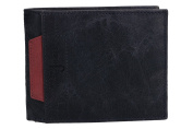 Wallet man ANTONIO BASILE blue with coin purse and flap VA2031