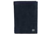 Wallet man vertical LOTTO blue in leather with coin purse VA2001