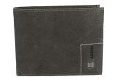 Mini wallet man LOTTO grey in leather with flap and coin purse VA1097