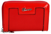 Wallet woman CHARRO red compact with opening zip and button VA2061