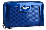 Wallet woman CHARRO blue compact with opening zip and button VA2062