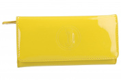 Wallet woman CHARRO yellow compact with opening zip and button VA2071