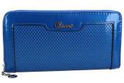 Wallet woman CHARRO blue model compact with zip VA2066