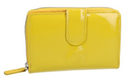Wallet woman CHARRO yellow compact with opening zip and button VA2072