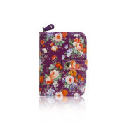 Ladies Girls Lovely Vintage Spring Floral Oil Coated Short Coin Purse Womens Wallet Card Holder