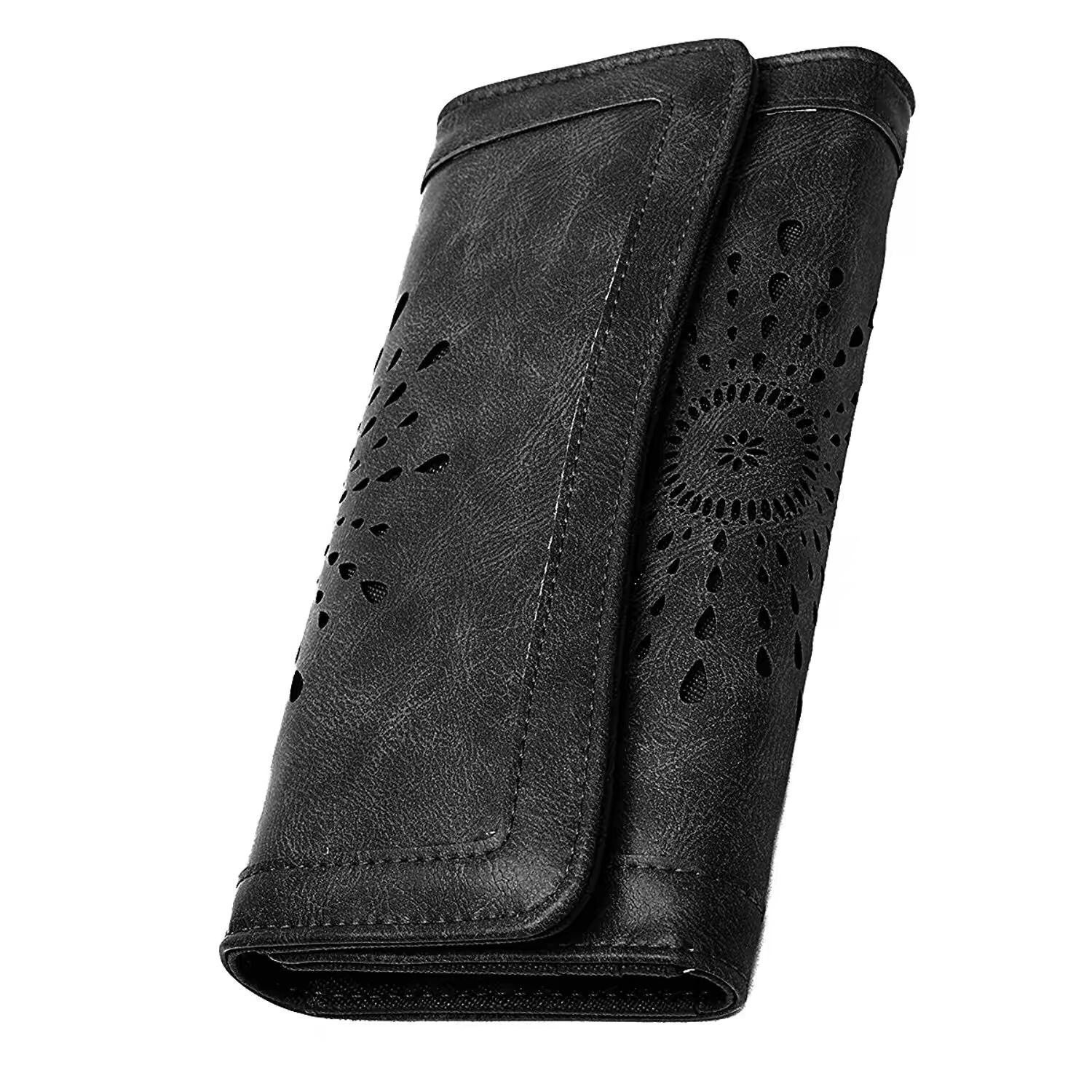 7f8af6644ee7 APHISON Women's Soft Leather Wallet Purse Lady Credit Card Clutch Holder  Long Wallets / Gift Box