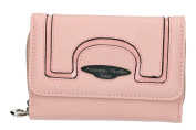 Wallet woman ANTONIO BASILE pink opening with button and coin purse external