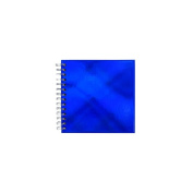 Blue metallic small square sketchbook