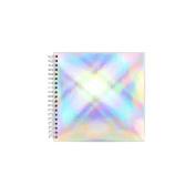 Iridescent metallic large square sketchbook