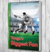 Tonga's Biggest Fan A5 Rugby Notebook / Notepad / Drawing Pad