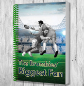 The Brumbies Biggest Fan A5 Rugby Notebook / Notepad / Drawing Pad