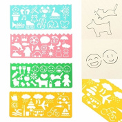 4 x Templates for Children's Drawing, Work or Decoration - Intro to Drawing - Learning