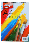 A4 Sketch Book 25 Sheet 100 Gramme Top Spiral book Aspiring Artist