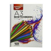 A3 Spiral 50 Sheet Sketch Book 100 Gramme Sketchbook Paper