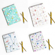 Zhi Jin A4 Thick Paper Spiral Artists Drawing Sketchbook Notebook Journal Notepad Doodles Travel