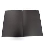 Create A4 40Sht 140gsm Black Cartridge Paper Hardback Notebook