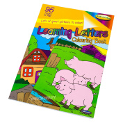 Learning Letters A4 Children's 96 Page Colouring In Book Animals Art Activity