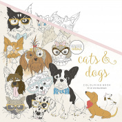 Kaiser Craft Cats and Dogs Colouring Book, White