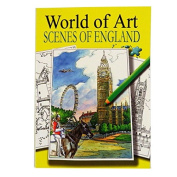 A4 Colour Artist Book - Scenes of England - 24 Illustrated Scenes to Colour - Size 297mm x 210mm